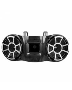 """Wet Sounds Rev-410 Revolution Series Dual 10"""" Tower Speaker With TC3 Fixed Clamps"""