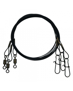 """Eagle Claw 6"""" Steelon Leader, Black (Pack of 3)"""