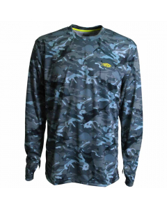 Aftco Caster Long Sleeve Sun Shirt M61107 - Blue Camo