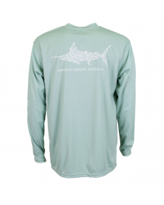 Aftco M61108 Jigfish Long Sleeve Performance Shirt - Moonstone