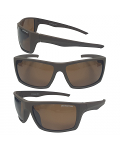 Sensation Swage Floating Polarized Sunglasses - Brown