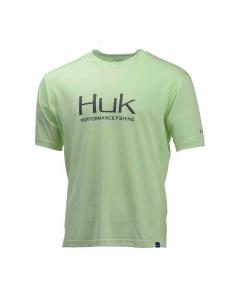 HUK Icon Short Sleeve Performance T-shirt - Yellow Green