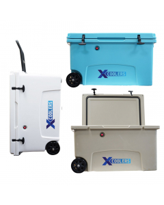 Xcoolers Roto-Molded Cooler Box with Wheels 125 Liters