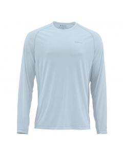 Simms Solarflex Crewneck Print Long Sleeve Shirt - Fog