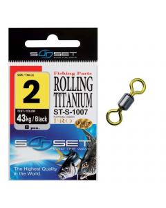 Sunset ST-S-1007 Rolling Titanium Swivel #2