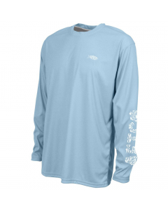 Aftco M61108 Jigfish LS Performance Shirt - Sky Blue
