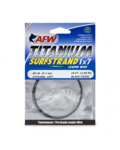 AFW Titanium Surfstrand, Bare 1x7 Leader Wire - Black Oxide