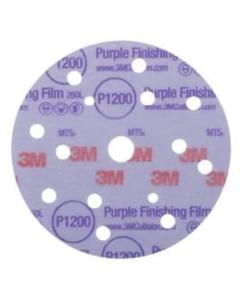 3M Hookit Purple Finishing Film Abrasive Disc 260L, 150 mm, 15 Hole