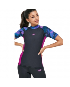Speedo Women's Pulse Rashguard Short Sleeve - Black