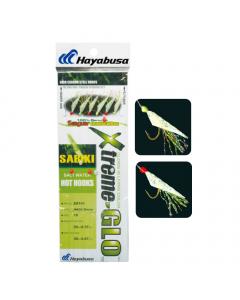 Hayabusa Hage Green Fish Skin Sabiki