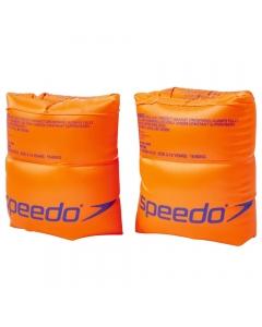 Speedo Roll-up Armbands for Kids - Orange (2-12 Years)