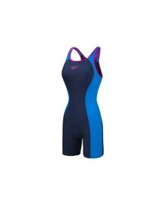 Speedo Women's Splice Muscleback Legsuit Swimsuit (Size: 30)