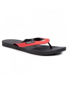 Speedo Men's Saturate AM Flip Flops - Black/Red (Size: 7)