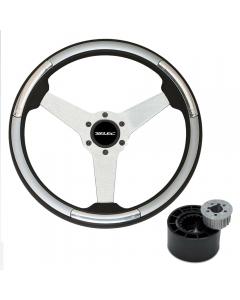 Ultraflex Linosa Stainless Steel Steering Wheel with Hub