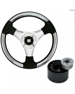 Ultraflex Budelli Steering Wheel (Chrome/Silver)