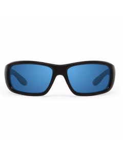Nines Falcon FA014-P Polarized Sunglasses (Matte Black Deep Blue Mirror/Gray)