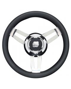 Ultraflex Morosini Steering Wheel (Black/Chrome)