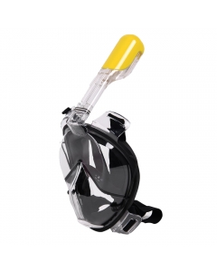Winmax One Piece Diving Mask for Adults - Black (Size: XL)