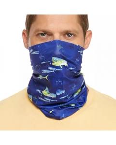 Guy Harvey GHV55500osy9233 Face and Neck Gaiter - Surf The Web