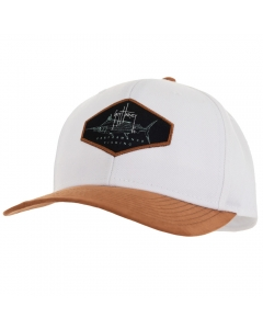 Guy Harvey GHV57029-111 Marlin Patch Mesh Trucker Cap - White