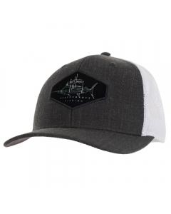 Guy Harvey GHV57001-061 Marlin Patch Mesh Trucker - Charcoal Heather