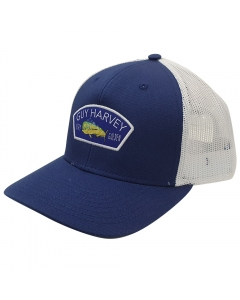 Guy Harvey GHV57001-426 Patch Mesh Trucker Cap - Estate Blue