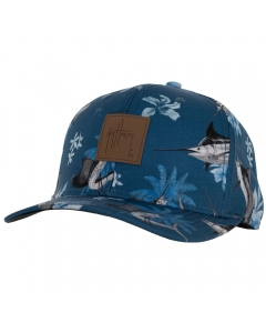 Guy Harvey GHV57033-411 Tropical Bills Cotton Twill Patch Cap - Navy