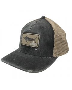 Guy Harvey GHV55037-061 Billfish Patch Mesh Trucker Cap - Charcoal Heather