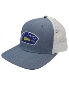 Guy Harvey GHV57001-412 Patch Mesh Trucker Cap - Coastal Blue Heather (Size: Ladies)