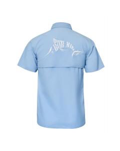 Bob Marlin Button Up Shirt – Blue