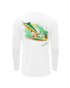 Bob Marlin Rasta Marlin Performance Shirt – White