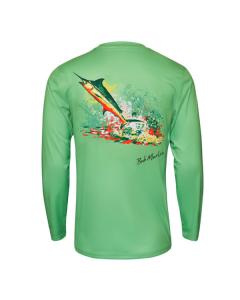 Bob Marlin Rasta Marlin Performance Shirt – Green