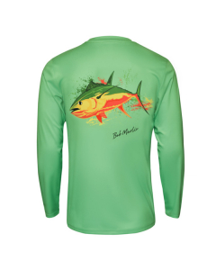 Bob Marlin Rasta Tuna Performance Shirt – Green