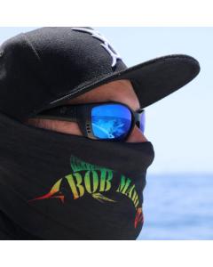 Bob Marlin Black Rasta Faceshield