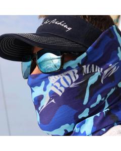 Bob Marlin Camo Faceshield - Blue