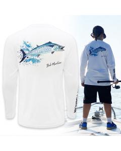 Bob Marlin King Bob Performance Shirt for Youth/Kids - White
