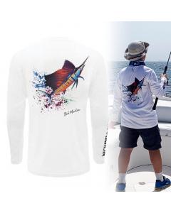 Bob Marlin Sail Rebel Performance Shirt for Youth/Kids - White