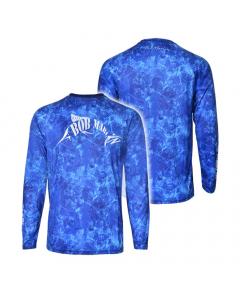 Bob Marlin Performance Shirt for Youth/Kids - Grander Blue