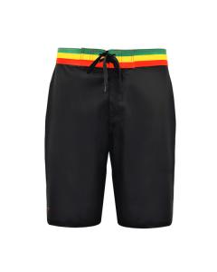 Bob Marlin Rasta Board Short - Black