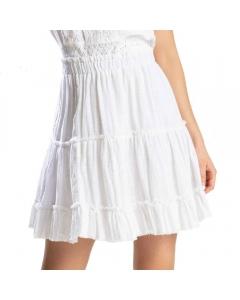 Just Nature Women's Short Skirt - White
