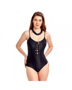 Just Nature Women's Pure Black Swimsuit