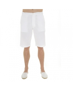 Just Nature Men's Linen Shorts - White