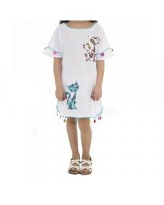 Just Nature Girls Cat Cotton Dress