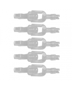 Invisa Swivel, Pack of 5 (Crystal Clear)