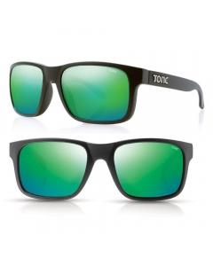 Tonic Mo Polarized Sunglasses - Matte Black / Green Mirror