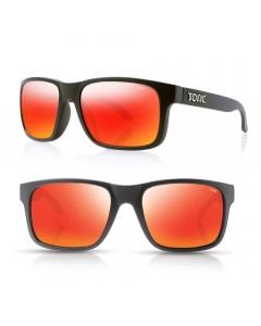 Tonic Mo Polarized Sunglasses - Matte Black / Red Mirror