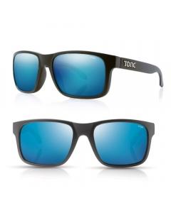 Tonic Mo Polarized Sunglasses - Matte Black / Blue Mirror
