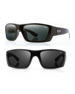 Tonic Rise Polarized Sunglasses - Shiny Black / Grey Photochromic
