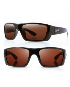 Tonic Rise Polarized Sunglasses - Shiny Black / Copper Photochromic