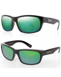 Tonic Torquay Polarized Sunglasses - Matte Black / Green Mirror